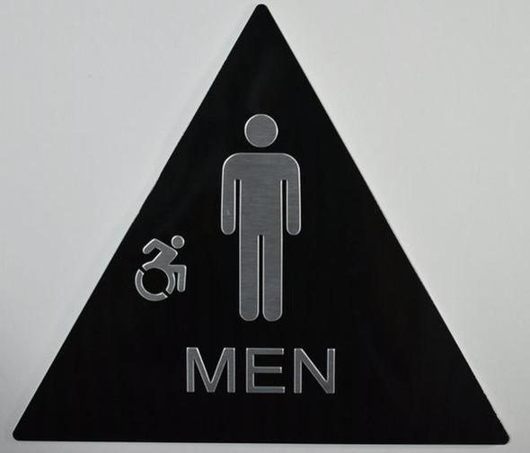 CA ADA Men Restroom accessible  Signage