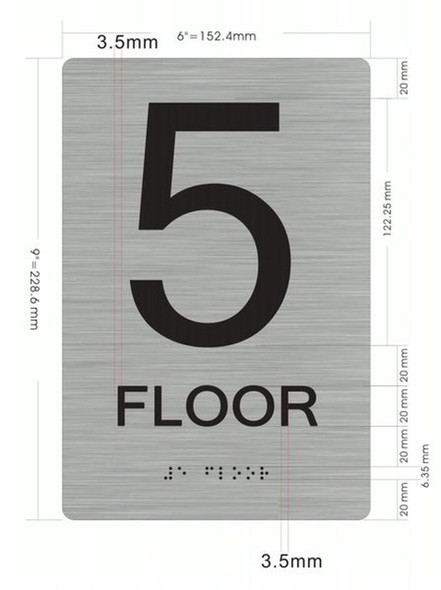 5th FLOOR ADA  Signage for Building