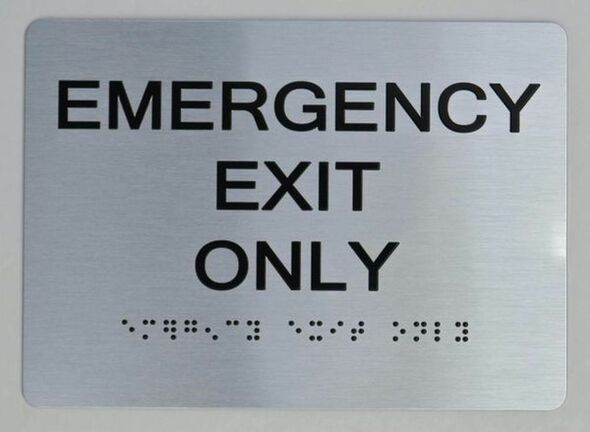 Emergency EXIT ONLY ADA  Signage for Building