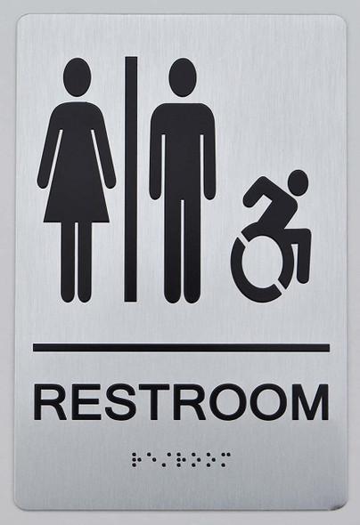 NYC Restroom  Signage -Accessible Restroom - ADA Compliant  Signage.