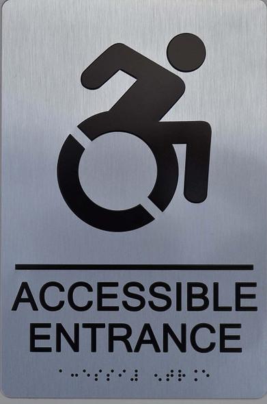 NYC Accessible Entrance ADA  Signage
