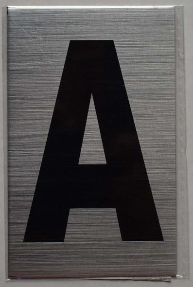 Apartment Number sinage - Letter A Brush