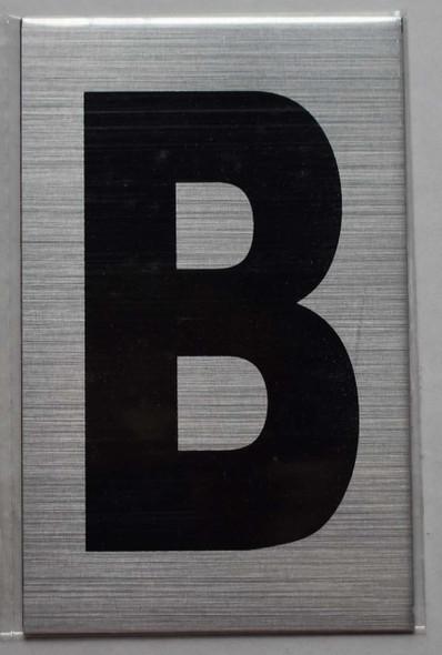 Apartment Number  Signage - Letter B