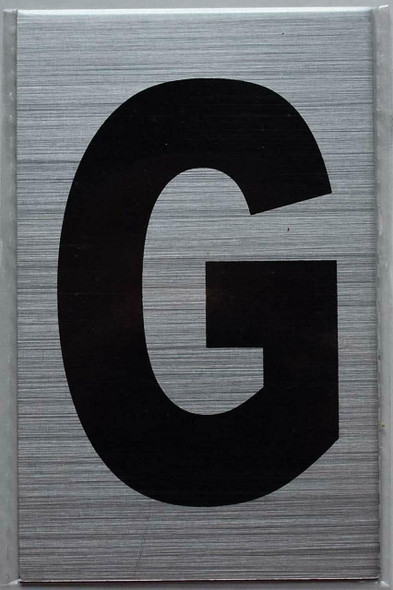 Apartment Number sinage - Letter G Brush
