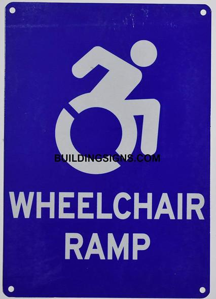 Wheelchair RAMP  Signage
