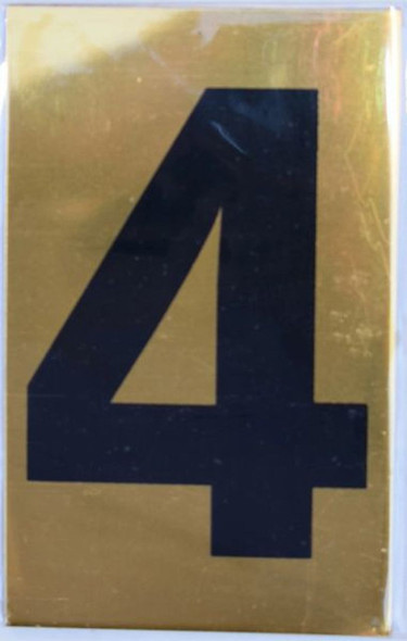 Apartment number sign 4 SIGNS  Sign