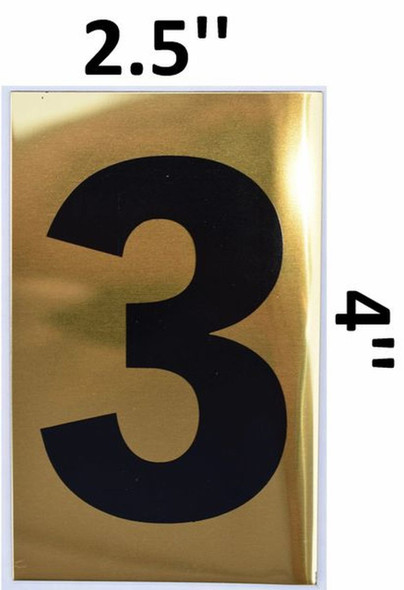 Apartment number sign 3