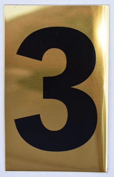 Apartment number sign 3  Sign