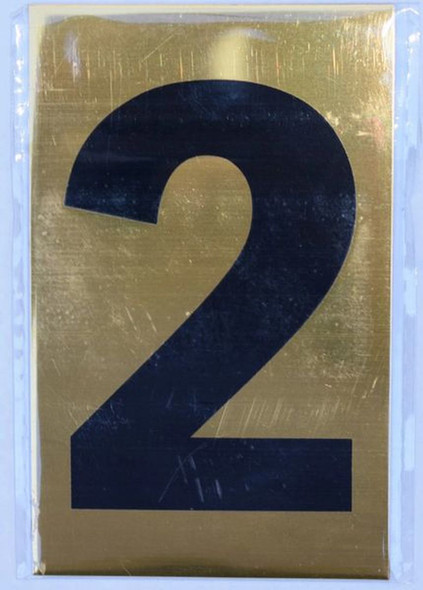 Apartment number sign 2 SIGNS