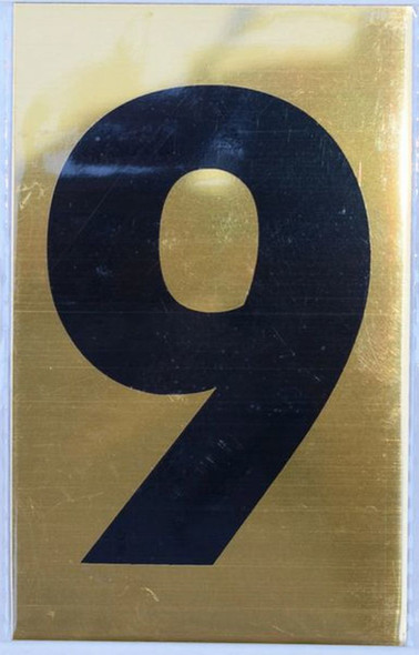 Apartment number sign 9 SIGNS
