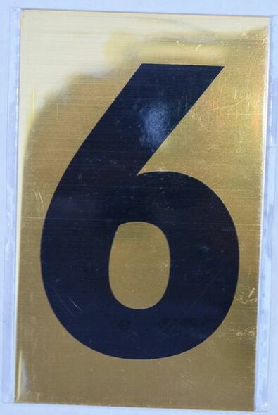 Apartment number sign 6 SIGNS  Sign