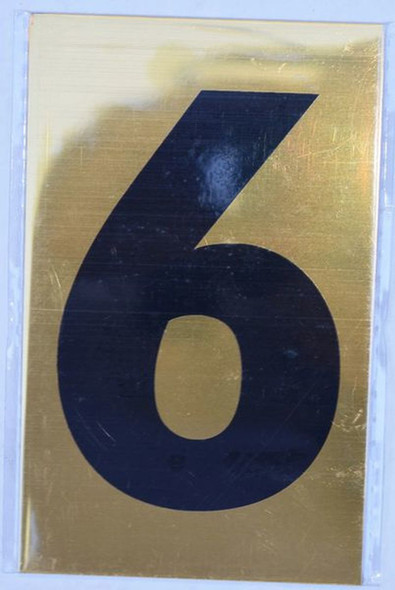 Apartment number sign 6 SIGNS