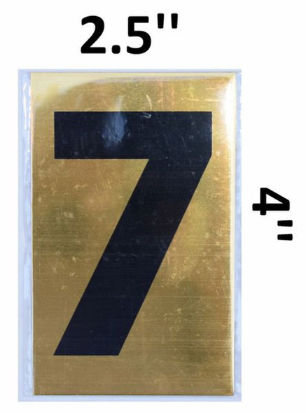 Apartment number sign 7