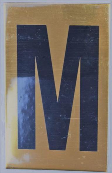 Apartment number sign M