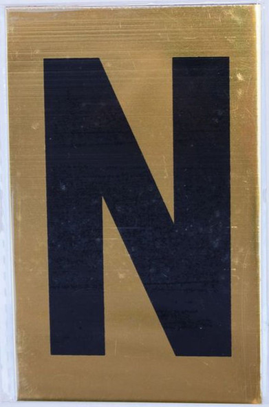 Apartment number sign N Sign