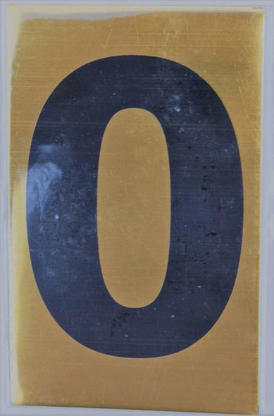 Apartment number sign O Sign