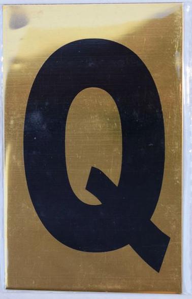 Apartment number sign Q