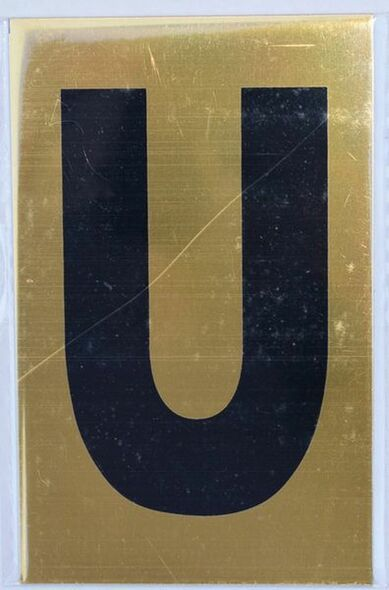 Apartment number sign U