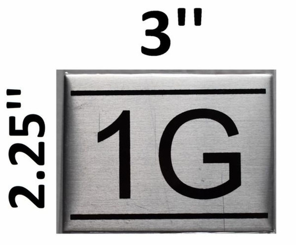 APARTMENT NUMBER SIGN 1G    Sign