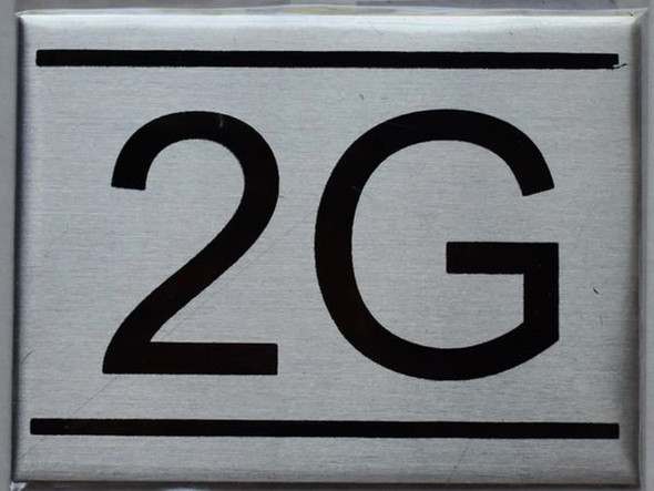 APARTMENT NUMBER SIGN - 2G    Sign
