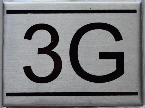 APARTMENT NUMBER SIGN - 3G    Sign