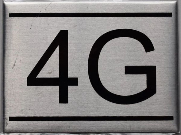 APARTMENT NUMBER SIGN - 4G    Sign