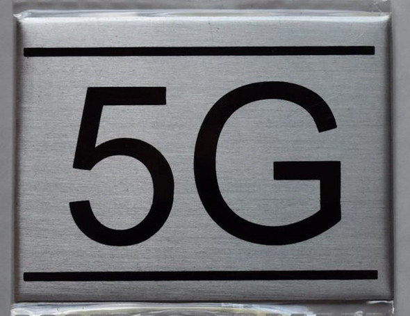 APARTMENT NUMBER SIGN - 5G    Sign