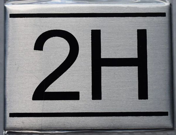 APARTMENT NUMBER SIGN - 2H    Sign