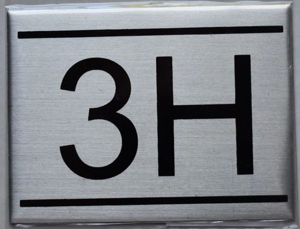APARTMENT NUMBER SIGN - 3H    Sign