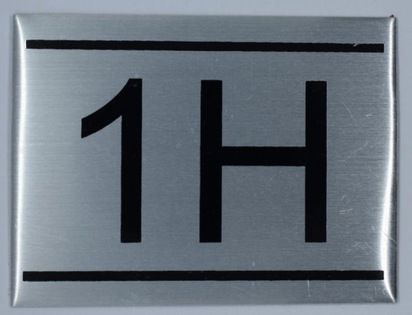 APARTMENT NUMBER SIGN - 1H