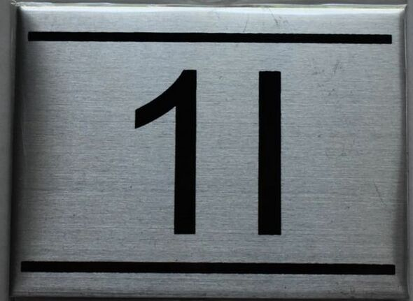 APARTMENT NUMBER SIGN - 1I