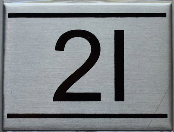APARTMENT NUMBER SIGN - 2I
