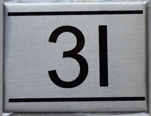 APARTMENT NUMBER SIGN - 3I    Sign