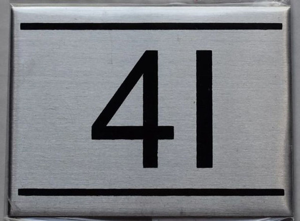 APARTMENT NUMBER SIGN - 4I    Sign