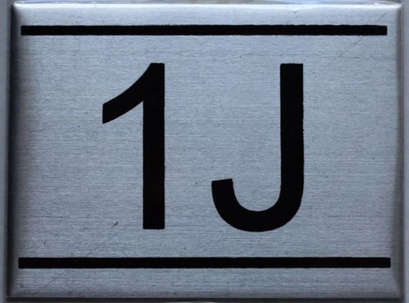 APARTMENT NUMBER SIGN - 1J    Sign
