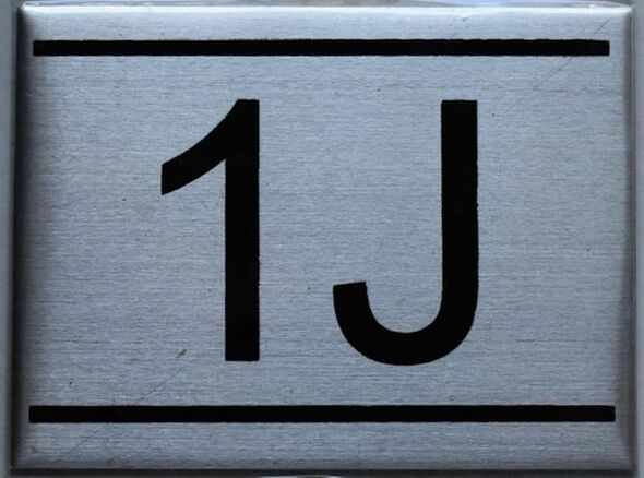 APARTMENT NUMBER SIGN - 1J