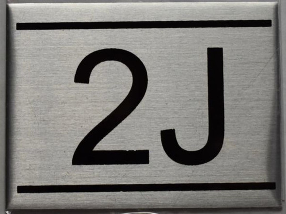APARTMENT NUMBER SIGN - 2J    Sign