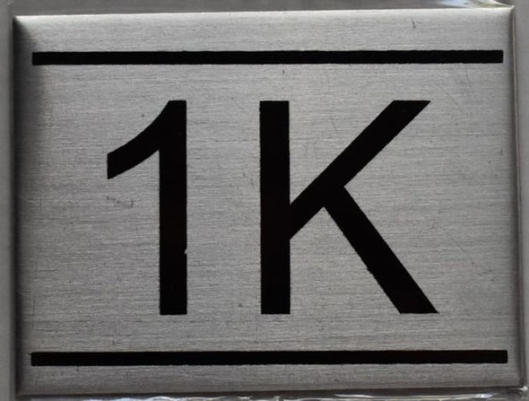 APARTMENT NUMBER SIGN - 1K    Sign