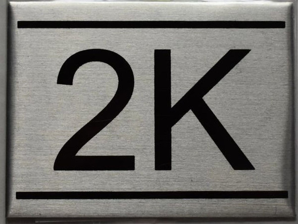 APARTMENT NUMBER SIGN - 2K    Sign