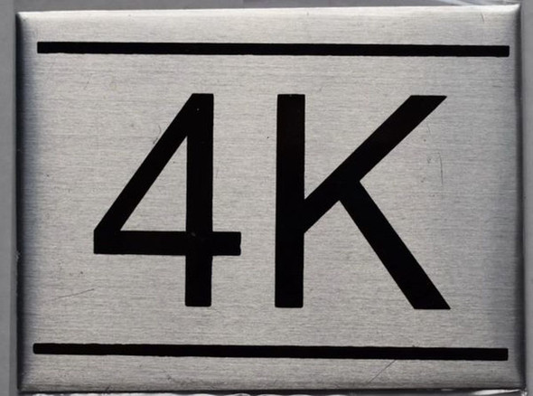 APARTMENT NUMBER SIGN - 4K