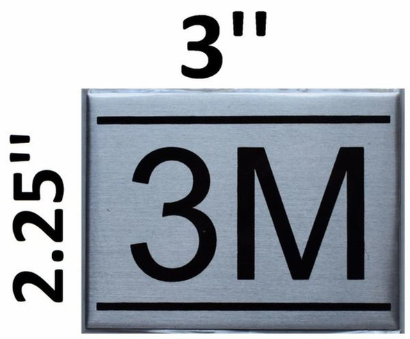 APARTMENT NUMBER SIGN - 3M -BRUSHED