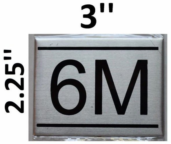 APARTMENT NUMBER SIGN - 6M -BRUSHED