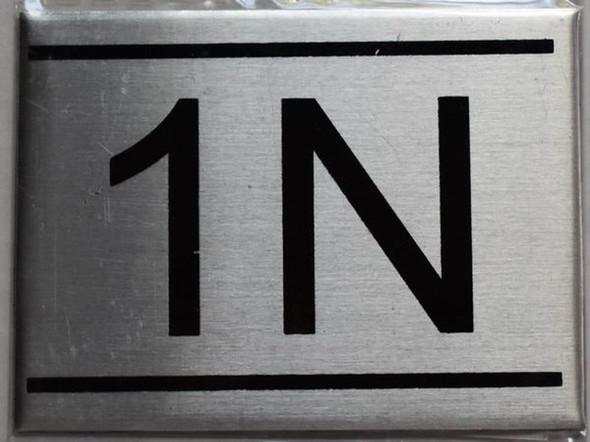 APARTMENT NUMBER SIGN - 1N    Sign
