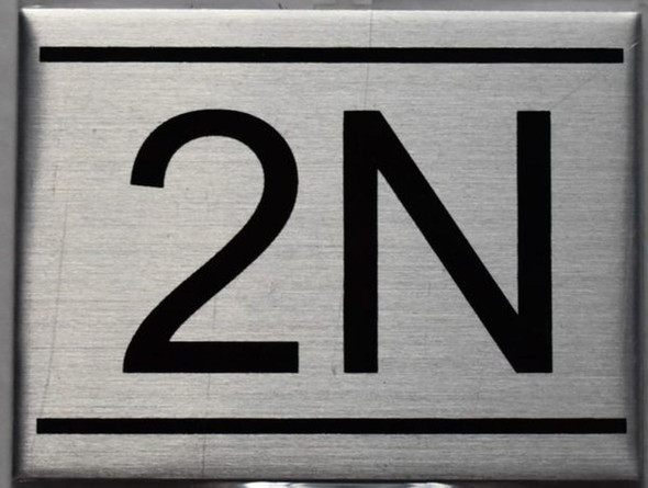 APARTMENT NUMBER SIGN - 2N    Sign