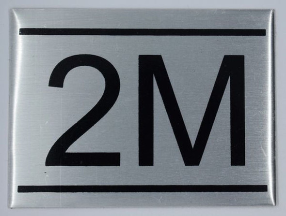 APARTMENT NUMBER SIGN - 2M    Sign