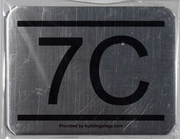 APARTMENT NUMBER SIGN – 7C    Sign