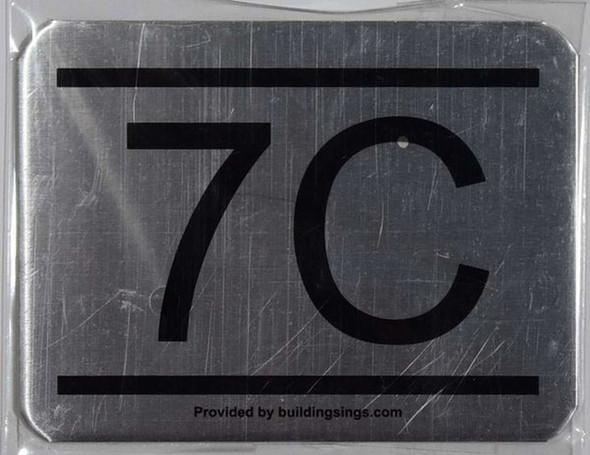 APARTMENT NUMBER SIGN – 7C