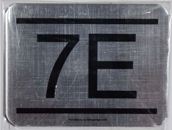 APARTMENT NUMBER SIGN – 7E    Sign