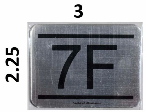 APARTMENT NUMBER SIGN – 7F   signs