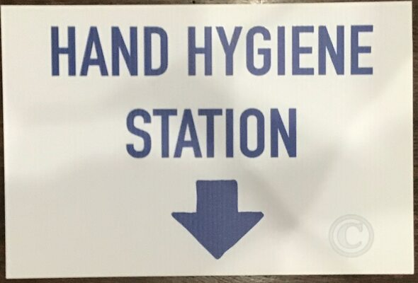 COVID19  DOB Hand Hygiene station SIGN signs Sign